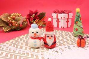サンタさんと雪だるま