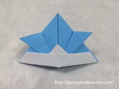 クリスマス 折り紙 折り紙 かぶと : yuruyurukomomo.com